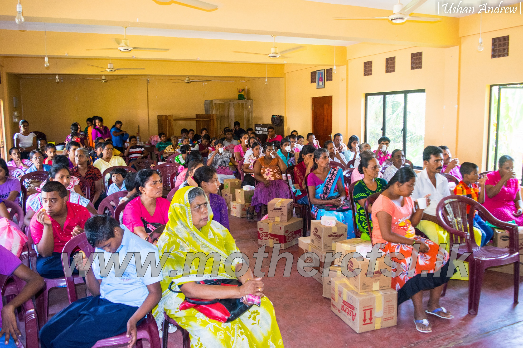 Distribution of Clothing and Dry Rations ( Hambantota District )